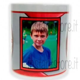Tazza in ceramica squadra del cuore personalizzata con foto - Milan