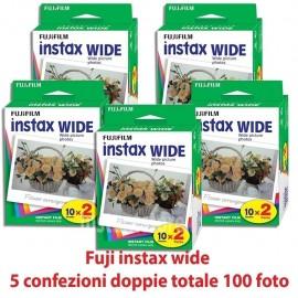 Fuji instax wide 5 confezioni doppie 100 Foto Per fujifilm Instax 210 300 100 ecc