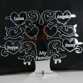 Albero della vita personalizzato con nomi frasi in plexiglass specchiato - Hand