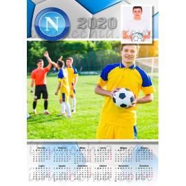 Calendario 2020 calcio Napoli personalizzato con 2 foto