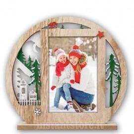 Cornice Portafoto in legno 10x15 per natale modello Luvos