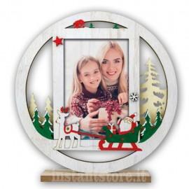 Cornice Portafoto in legno 10x15 per natale modello Kiruna