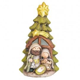 Decorazione natalizia in ceramica  Betlemme 2 presepe albero di natale
