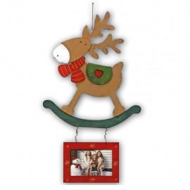 Cornice 10x15 Visby portafoto con renna decorazione natale