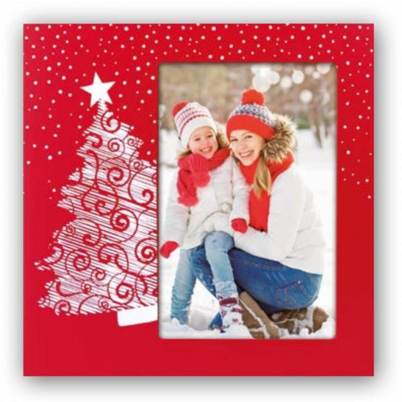 Cornice fotografica 10x15 Melvin portafoto con albero di Natale