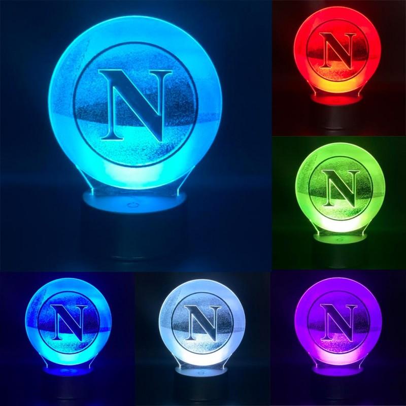 Lampada led multicolore Calcio Napoli personalizzabile