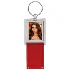 Portachiavi con foto in metallo Rosso 3,5x4,5