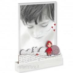Cornice mascagni 13x18 Portafoto in legno e acrilico con cappuccetto rosso a1273