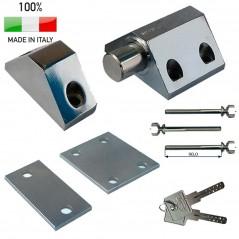 Lucchetto in acciaio Alta sicurezza per saracinesche portelloni cancelli fissaggio laterale