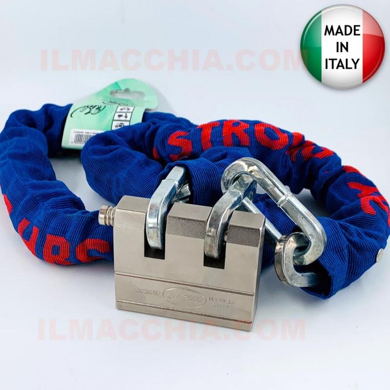 Lucchetto con catena da 1,5m Alta sicurezza in acciaio temperato catenaccio moto bici