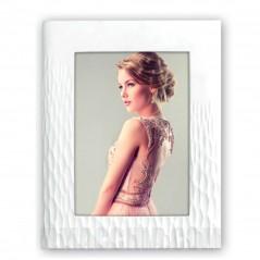 Cornice fotografica bianca zep 13x18 in resina mod. hilburg em9257