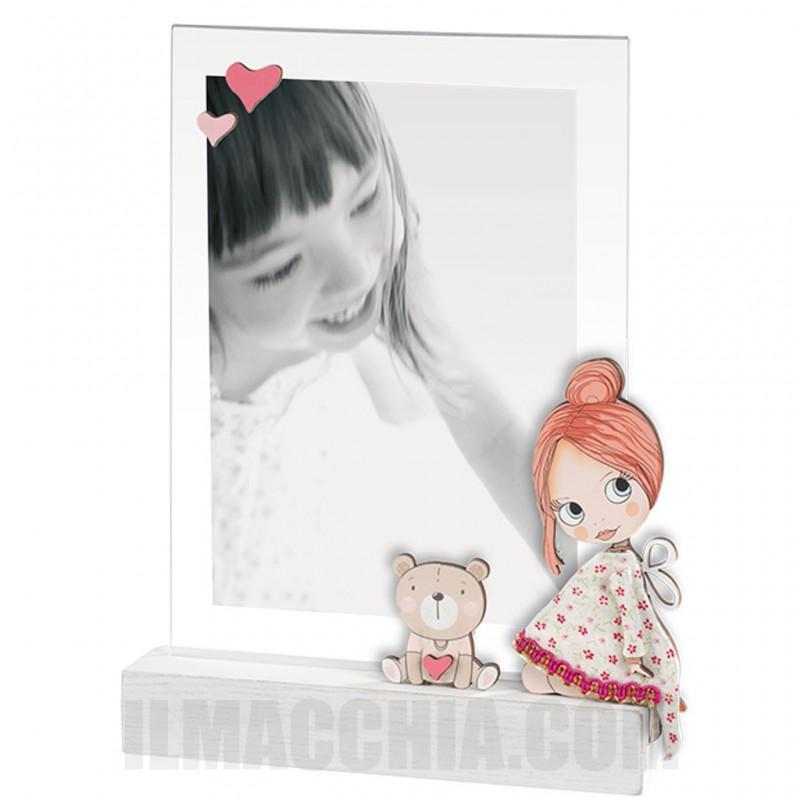 Cornice mascagni 13x18 Portafoto in legno e acrilico Little girl a1136