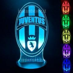 Lampada led multicolore squadra di Calcio Juventus personalizzabile