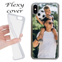 Cover Flexi personalizzata per iPhone xs max in silicone con stampa sublimatica