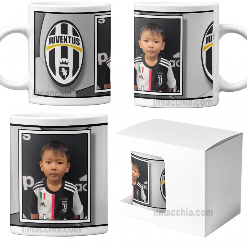 Tazza in ceramica squadra del cuore personalizzata con foto calcio Juve