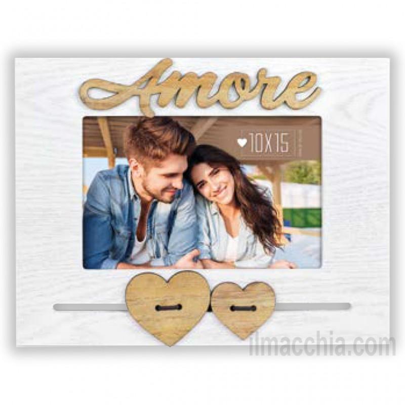 Cornice Fotografica 10x15 Amore con cuori Portafoto San Valentino