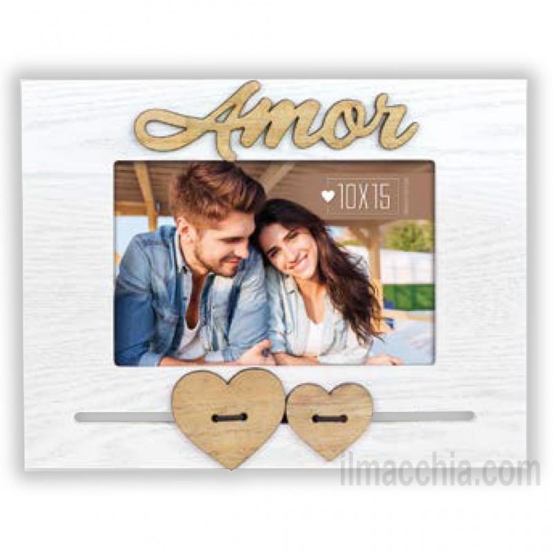 Cornice Fotografica Amor con cuori Portafoto 10x15 San Valentino