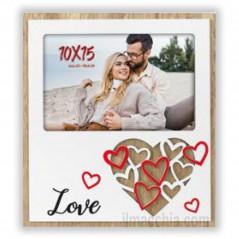 Cornice Fotografica per San Valentino con cuori Portafoto 10x15 Tamara