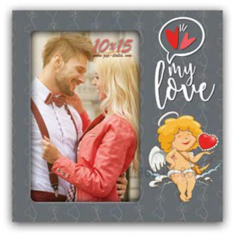 Cornice Fotografica San Valentino Portafoto 10x15 Eros con cupido