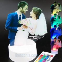 Lampada led con foto e incisione personalizzata idea regalo San Valentino