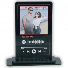Targa spotify personalizzata con foto e musica che preferisci su plexy nero