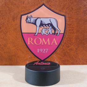 Lampada led multicolore scudetto Roma calcio personalizzabile con nome