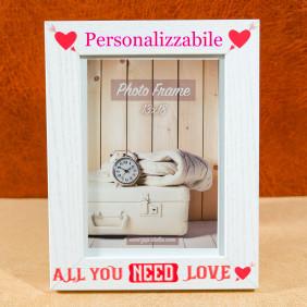 Cornice 13x18 personalizzabile con testo foto ecc la tua dedica preferita