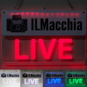 Insegna luminosa ON AIR Pannello con luci led Personalizzabile per registrazione live