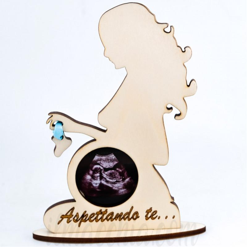 Porta ecografia Donna incinta cornice per foto Mamma in gravidanza Legno