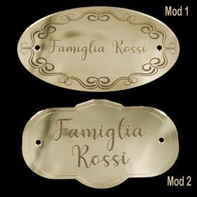 Targa fuoriporta da 15 cm personalizzata con nome Targhetta con incisione laser