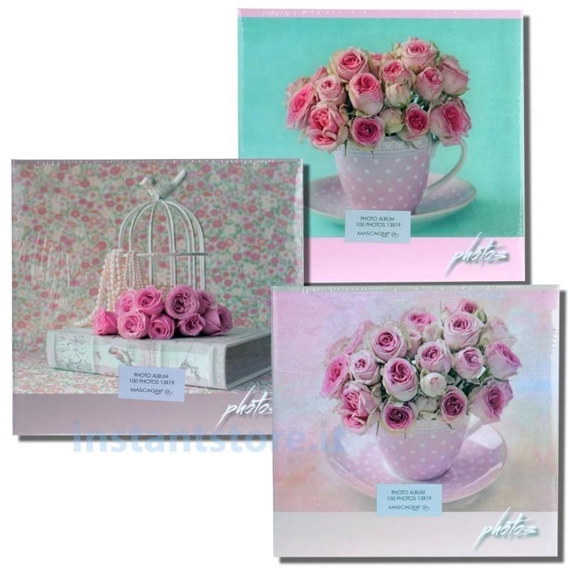 Album Fotografico Mascagni 100 foto 13x19 13x18 Portafoto s440 con rose