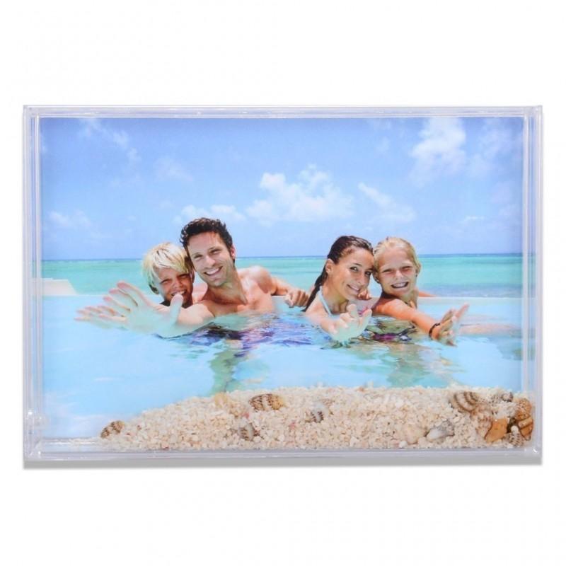 Cornice Fotografica per foto 10 x 15 portafoto con sabbia e conchiglie