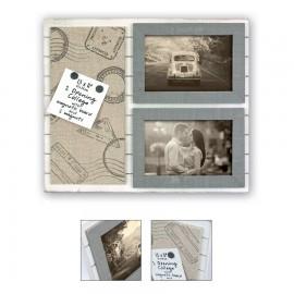 Cornice fotografica Zep Cornice in legno con memo board magnetico Alizee 2x10x15 - Art. TY473