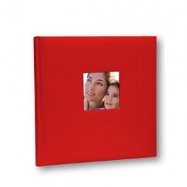 Album Fotografico Tradizionale 30 fogli 31x31 Portafoto Cotton Rosso