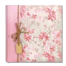 Album Fotografico 20 fogli 40 pagine 24x24 Portafoto Tradizionale Garden rosa