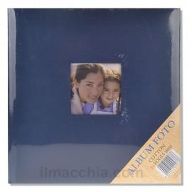 Album Fotografico Tradizionale 30 fogli 31x31 Portafoto Cotton blu