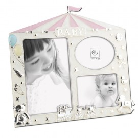 Cornice Fotografica in Metallo foto Mascagni Baby idea regalo rosa-azzurro A556