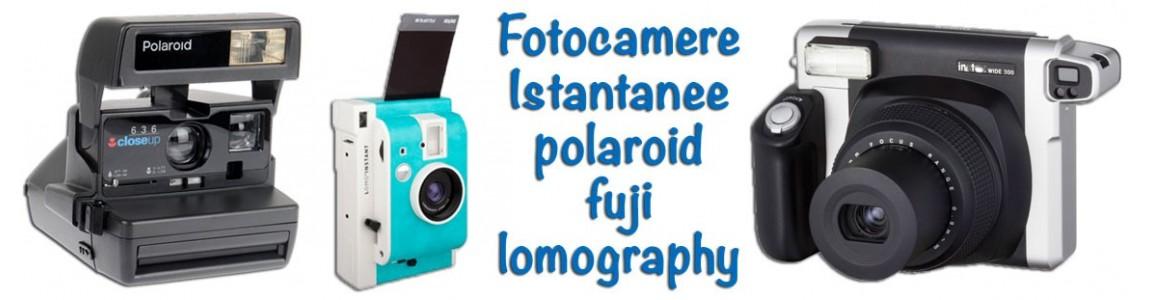 Fotocamere istantanee a sviluppo immediato polaroid fujifilm lomography